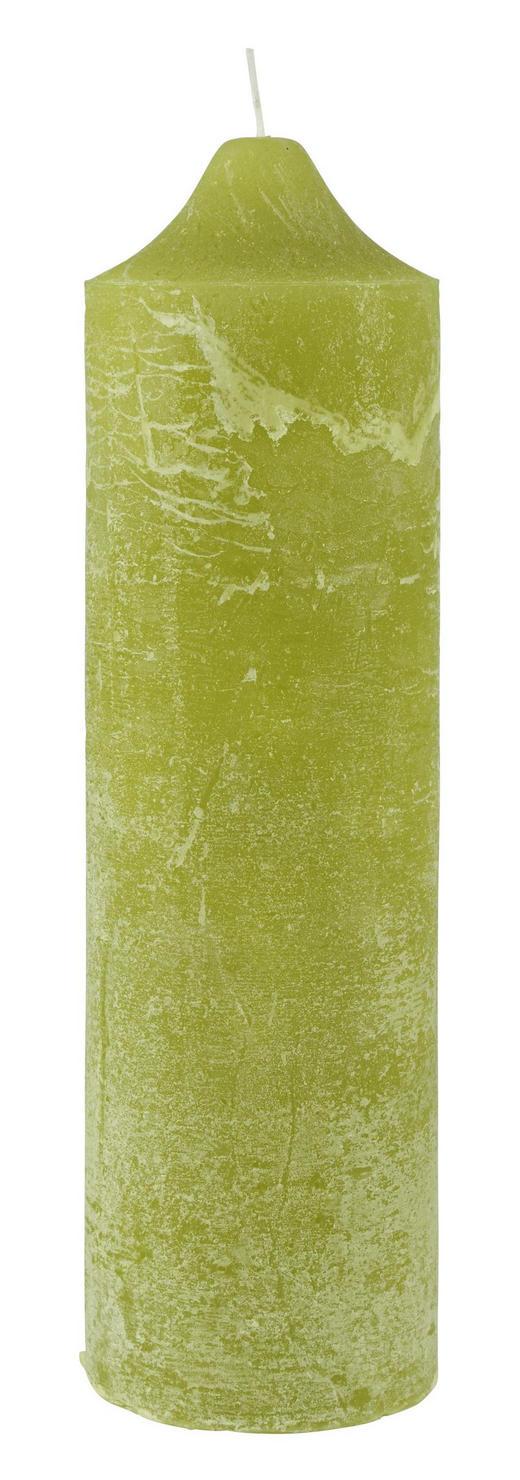 STUMPENKERZE 10/35 cm - Grün, Basics (10/35cm) - Ambia Home