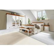SCHLAFZIMMER In Kieferfarben, Weiß   Weiß/Kieferfarben, Basics, Holz (180/