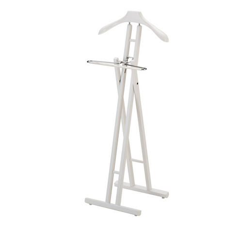 HERRENDIENER - Weiß, Design, Holz (45/104/34cm)