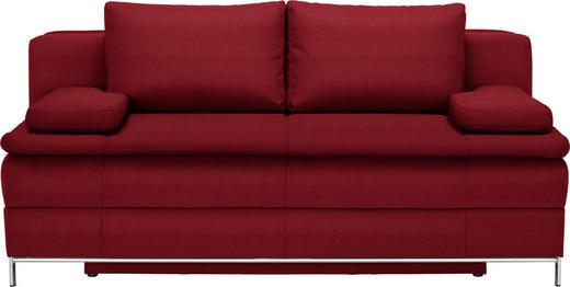 BOXSPRINGSOFA in Textil Rot - Chromfarben/Rot, Design, Textil/Metall (200/93/107cm) - Novel