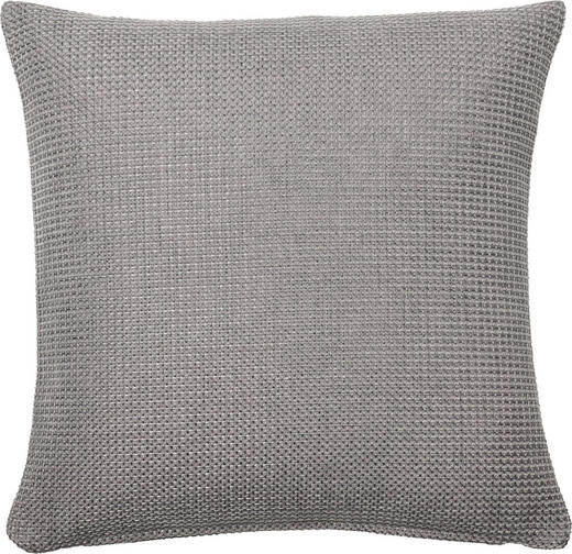 KISSENHÜLLE Silberfarben 40/40 cm - Silberfarben, Basics, Textil (40/40cm)