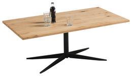 COUCHTISCH in Holz, Metall 110/60/40,5 cm - Eichefarben/Schwarz, MODERN, Holz/Metall (110/60/40,5cm) - Hom`in