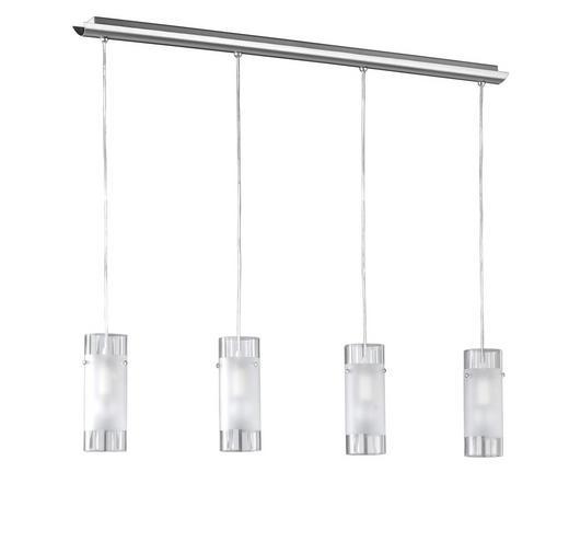 HÄNGELEUCHTE - Nickelfarben, LIFESTYLE, Glas/Metall (98 150 8cm)