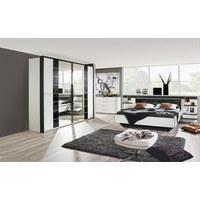 SCHLAFZIMMER Graphitfarben, Weiß   Graphitfarben/Weiß, Design, Glas  (180/200cm ...