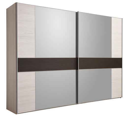 SKŘÍŇ S POSUVNÝMI DVEŘMI, světle hnědá, barvy modřínu - barvy chromu/barvy modřínu, Design, kov/kompozitní dřevo (300/217/67cm) - Dieter Knoll