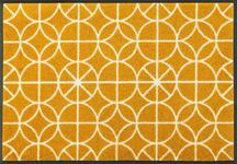 FUßMATTE 50/75 cm Graphik Gelb - Gelb, Basics, Kunststoff/Textil (50/75cm) - Esposa