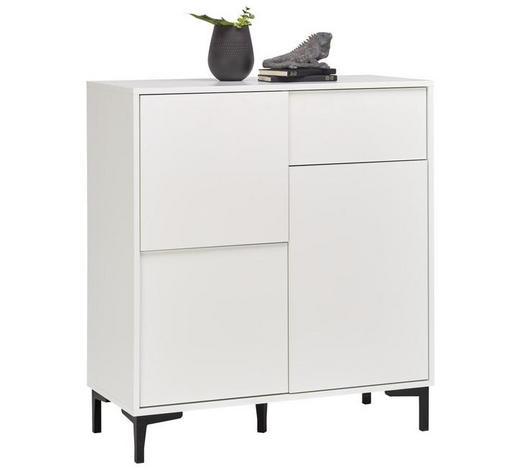 KOMMODE 84/92/38 cm  - Graphitfarben/Weiß, Trend, Holzwerkstoff/Kunststoff (84/92/38cm) - Carryhome