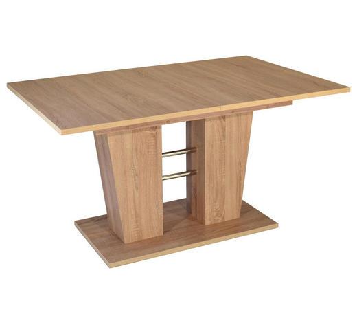 JEDILNA MIZA, hrast  - hrast, Design, leseni material (140(180)/90/75cm) - Xora