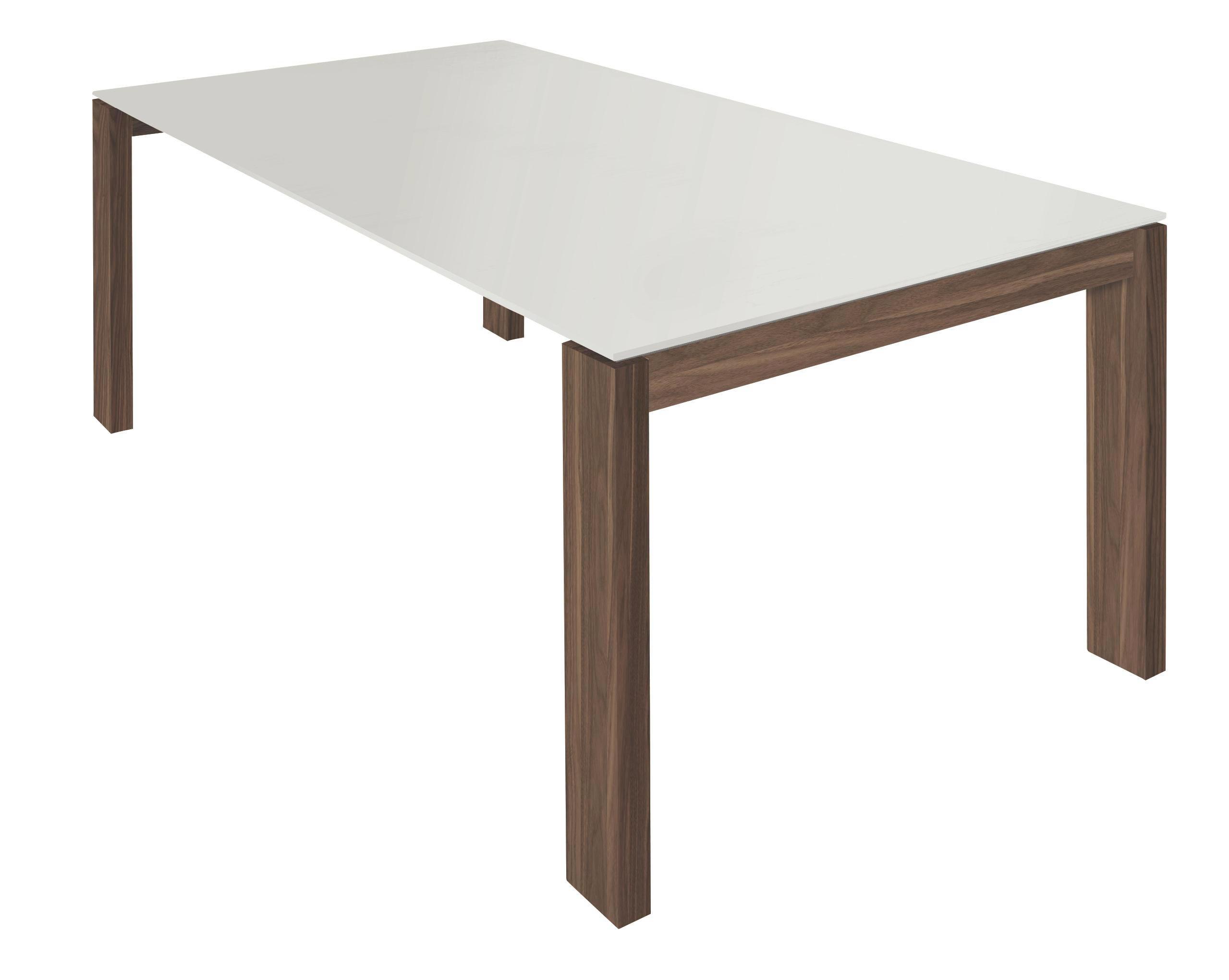 ESSTISCH Nussbaum Furniert Rechteckig Nussbaumfarben, Weiß    Nussbaumfarben/Weiß, Design, Holz (