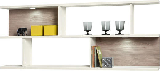 HÄNGEELEMENT Eichefarben, Weiß - Eichefarben/Weiß, Design (150/60,6/20cm) - Set one by Musterrin