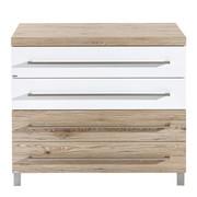 WICKELKOMMODE Lennox Eichefarben - Eichefarben/Silberfarben, Basics, Holzwerkstoff/Metall (110/94,9/55,9cm) - PAIDI