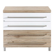 Wickelkommode Lennox - Eichefarben/Silberfarben, KONVENTIONELL, Holzwerkstoff/Metall (110/94,9/55,9cm) - Paidi