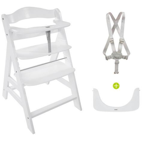 KOMBINOVANÁ VYSOKÁ ŽIDLE - bílá, Lifestyle, dřevo (56/80/48cm) - Hauck