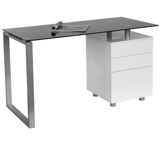 Schreibtisch Schwarz Silberfarben Weiß Online Kaufen Xxxlutz