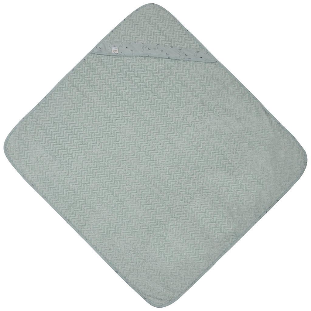 Image of Bebe Jou Kapuzenbadetuch 85/75 cm , 3010055 , Pastellgrün , Textil , 85x75 cm , saugfähig, angenehm weich, hochwertige Qualität, schnelltrocknend, schadstoffgeprüft , 008296010314