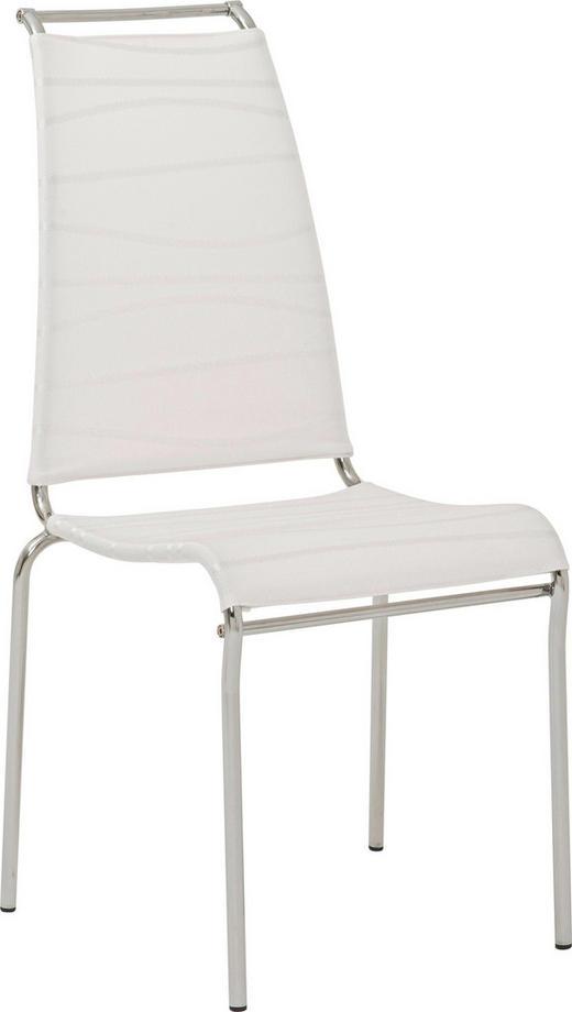 STUHL in Metall, Textil Weiß - Weiß, Design, Textil/Metall (51/97,5/60cm) - Calligaris