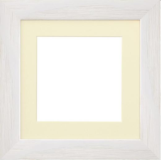 RAHMEN in Weiß - Weiß, Basics, Glas/Holz (25,4cm)