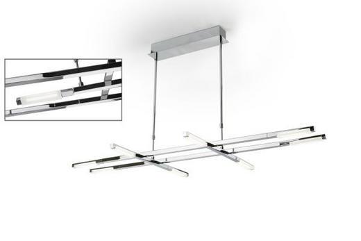 HÄNGELEUCHTE - Chromfarben, LIFESTYLE, Glas/Metall (110/54/115cm)