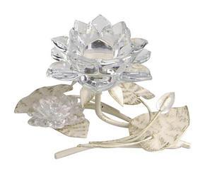 LJUSSTAKE - klar/champagne, Trend, metall/glas (19/11/14cm) - Ambia Home
