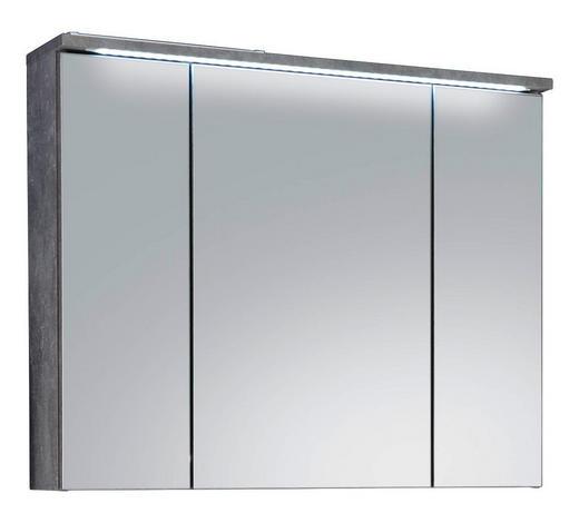 SPIEGELSCHRANK 80/68/23 cm  - Hellgrau, Design, Glas/Holzwerkstoff (80/68/23cm)