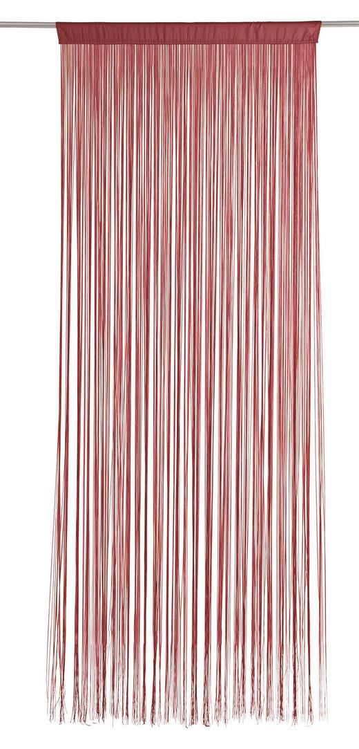 FADENSTORE  transparent   90/245 cm - Rot, Basics, Textil (90/245cm) - Boxxx