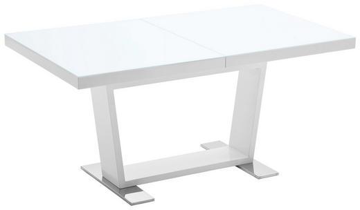 ESSTISCH rechteckig Weiß - Weiß, Design, Glas/Metall (160(240)/90/76cm) - NOVEL