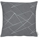 KISSENHÜLLE Grau, Hellgrau, Dunkelgrau  - Dunkelgrau/Hellgrau, Design, Textil (46x46cm) - Ambiente