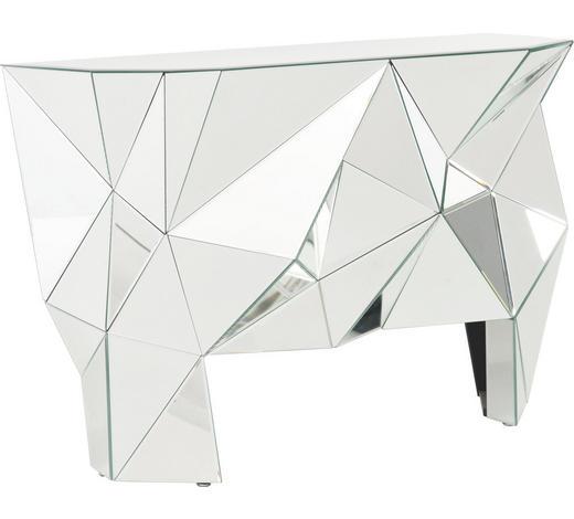 KONSOLE Silberfarben  - Silberfarben, Design, Glas (126/80/39cm) - Kare-Design