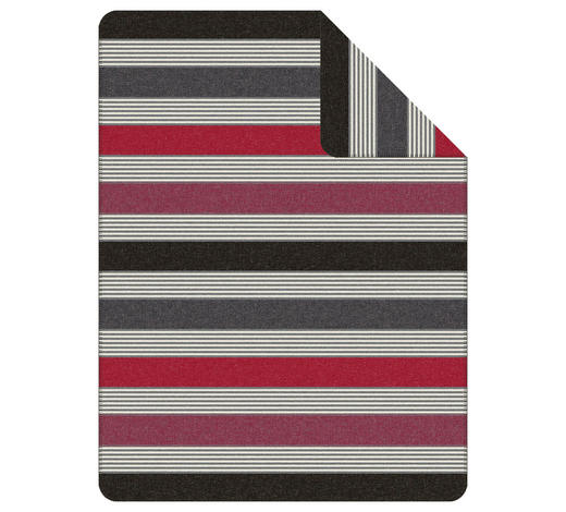 WOHNDECKE 150/200 cm - Beere/Grau, KONVENTIONELL, Textil (150/200cm) - Novel