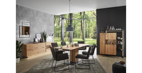 SIDEBOARD 201,9/79,9/41,1 cm  - Eichefarben, MODERN, Glas/Holz (201,9/79,9/41,1cm) - Valnatura