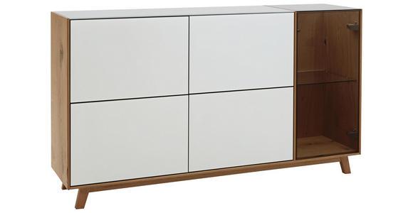 SIDEBOARD 164/92/40 cm  - Eichefarben/Weiß, Natur, Glas/Holz (164/92/40cm) - Dieter Knoll
