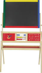 DĚTSKÁ TABULE - barvy borovice/Multicolor, Basics, kov/dřevo (69/37/113cm) - MY BABY LOU