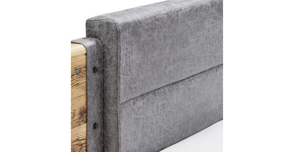 Bettanlage Alicante - Fichtefarben/Grau, MODERN, Holzwerkstoff/Textil (180/200cm) - Luca Bessoni