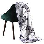 PLAID Grau, Schwarz, Weiß  - Schwarz/Weiß, Natur, Textil (130x170cm) - Ambiente