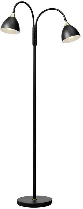 GOLVLAMPA - mässingfärg/svart, Lifestyle, metall (132cm)