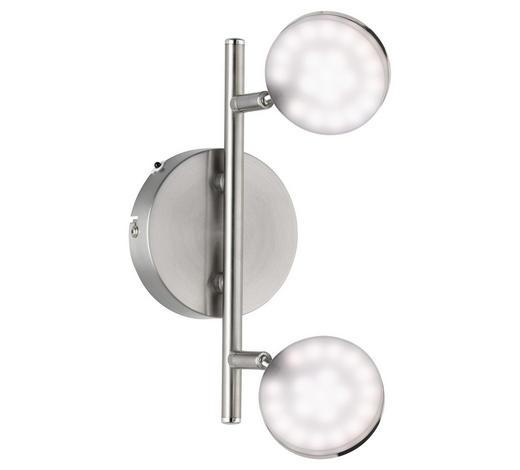 LED-STRAHLER - Nickelfarben, Design, Kunststoff/Metall (34/17/10cm)