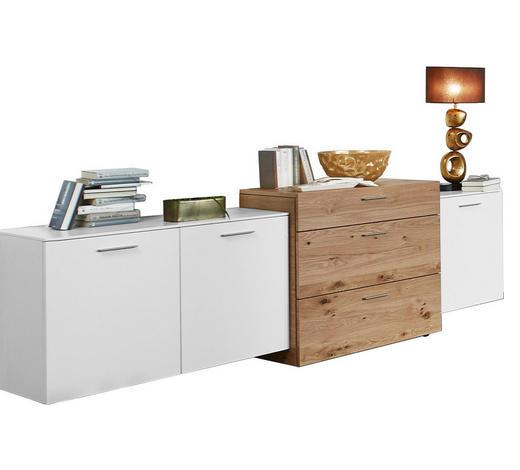 SIDEBOARD 246,4/90,6/51,9 cm  - Eichefarben/Alufarben, Design, Holz/Holzwerkstoff (246,4/90,6/51,9cm) - Ambiente by Hülsta