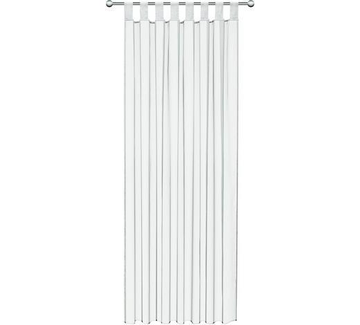ZÁVĚS HOTOVÝ, průhledné, 140/245 cm - bílá, Basics, textil (140/245cm) - Boxxx