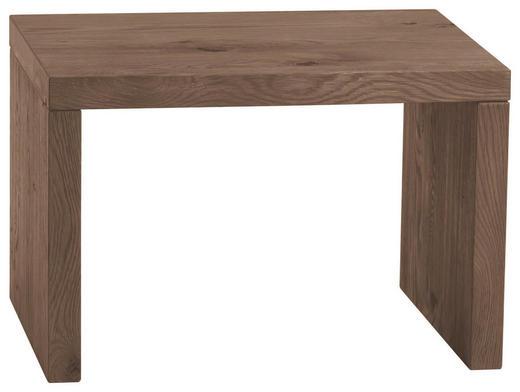 NACHTKÄSTCHEN Eiche massiv gebürstet, geölt Dunkelbraun - Dunkelbraun, Design, Holz (48/32/38cm) - Hasena