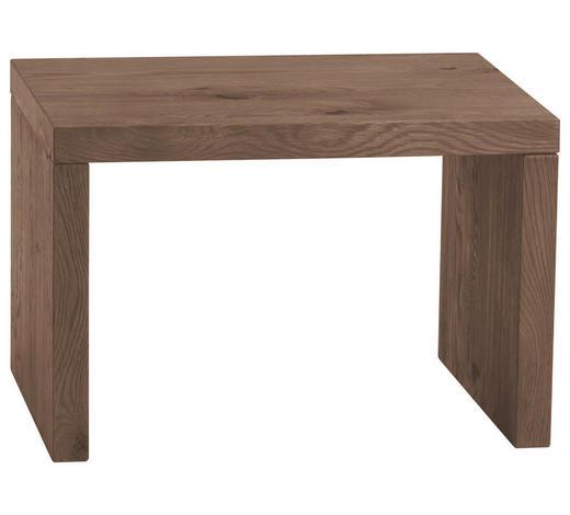 NACHTKÄSTCHEN in massiv Eiche Dunkelbraun - Dunkelbraun, Design, Holz (48/32/38cm) - Hasena