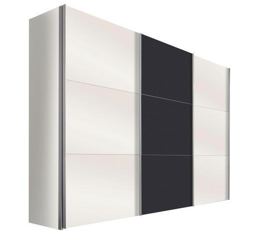 SCHWEBETÜRENSCHRANK in Graphitfarben, Weiß  - Alufarben/Graphitfarben, Design, Holzwerkstoff/Metall (300/216/68cm) - Hom`in