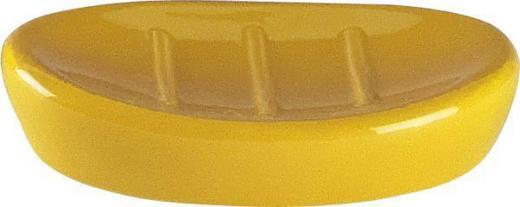 SEIFENSCHALE Keramik - Gelb, Basics, Keramik (8.5/2.5/12.5cm)