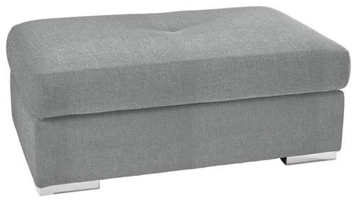 HOCKER in Textil Hellgrau - Chromfarben/Hellgrau, KONVENTIONELL, Kunststoff/Textil (118/46/67cm) - Carryhome