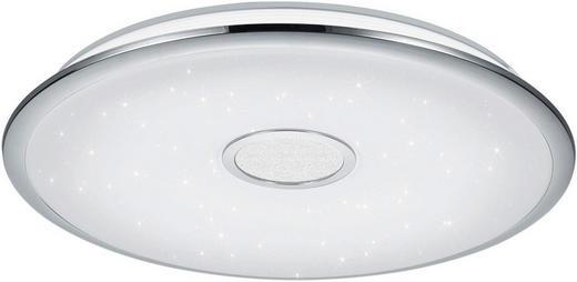 LED-DECKENLEUCHTE - Chromfarben/Weiß, LIFESTYLE, Kunststoff/Metall (65/10cm) - Novel