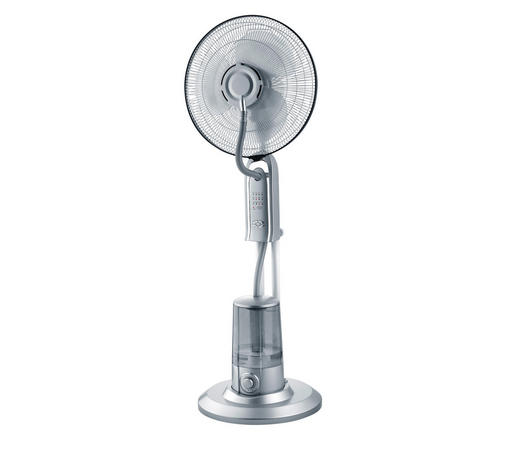 STOJACÍ VENTILÁTOR - barvy stříbra, Basics, kov/umělá hmota (40/127cm) - Mican