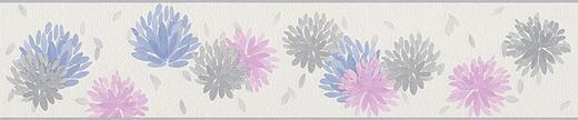 BORDÜRE 5,00 m - Violett/Creme, Design, Textil (13/50cm)