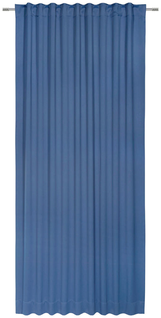 FERTIGVORHANG  black-out (lichtundurchlässig)  140/300 cm - Blau, Basics, Textil (140/300cm) - Esposa