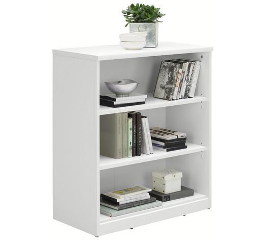 REGÁL, bílá - bílá/černá, Konvenční, kompozitní dřevo (72/84/36cm) - Xora