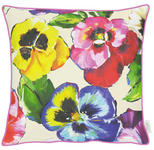 KISSENHÜLLE Gelb, Grün, Multicolor, Rot  - Gelb/Rot, Textil (49x49cm) - Esposa