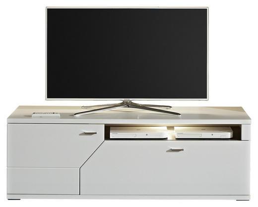 LOWBOARD - Weiß/Grau, MODERN, Holzwerkstoff/Metall (150,1/50,8/50cm) - Stylife